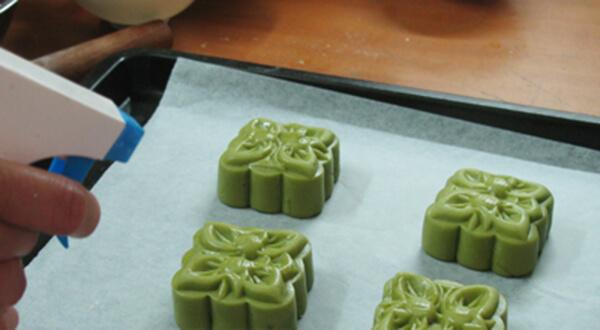 Hướng dẫn cách làm bánh Trung Thu Trà Xanh 8