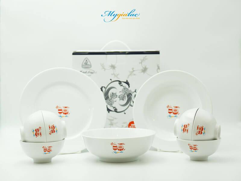 Quà tặng trung thu bộ bàn ăn gốm sứ Minh Long
